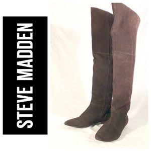 """EUC Steve Madden """"Overpass"""" Boots Size 7.5 Brown"""